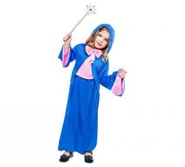 Disfraz de Hada Madrina azul para niña