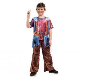 Disfraz de Hippie Bosco para niño