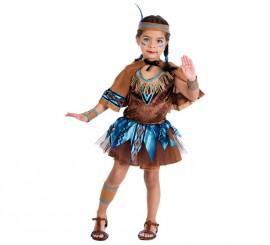 Disfraz de India tutú con capa para niña