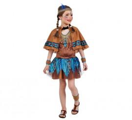 Disfraz de India tutú con capelina para niña