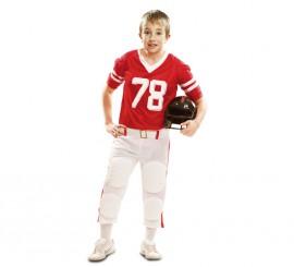 Disfraz de Jugador de Fútbol Americano rojo para niño