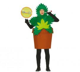 Disfraz de Maceta Planta de Marihuana para hombre