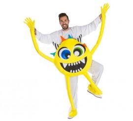 Disfraz de Monstruo amarillo para adultos