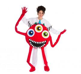 Disfraz de Monstruo rojo para adultos
