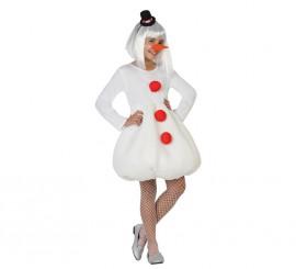 Disfraz de Muñeco de Nieve para niñas