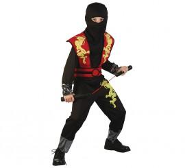 Disfraz de Ninja del dragón dorado para niño