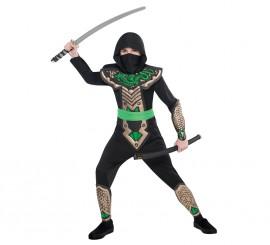 Disfraz de ninja dragón para niños