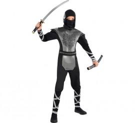 Disfraz de ninja lobo para niños y adolescentes