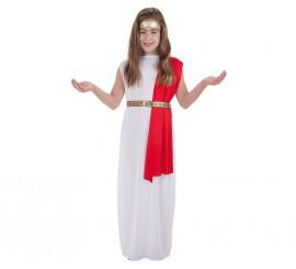 Disfraz de Noble Romana Luxus para niña
