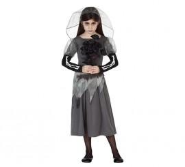 Disfraz de Novia Cadáver para niñas para Halloween