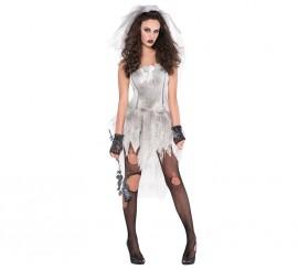 Disfraz de Novia cadáver sexy para mujer para Halloween