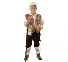 Disfraz de Pastor ocre rústico para niño exclusivo de Disfrazzes