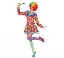Disfraz de Payasa multicolor para mujer