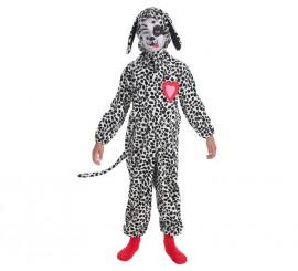 Disfraz de Perrito Dálmata corazón para niño