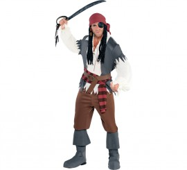 Disfraz de Pirata naúfrago para hombres