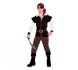 Disfraz de pirata rebelde para niños adolescentes
