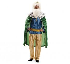 Disfraz de Rey Mago verde en talla M-L