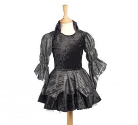 Disfraz de Vampiresa Carnilla negro para niña