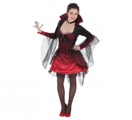 Disfraz de Vampiresa Madame Red para mujer