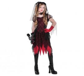 Disfraz Novia gótica para niñas y adolescentes Halloween