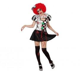 Disfraz para mujer de Arlequina Sangrienta sexy
