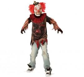 Disfraz Payaso demente para niños y adolescentes Halloween