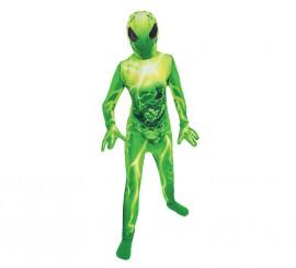 Disfraz segunda piel de extraterrestre para niños
