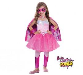 Disfraz superheroína princesa Barbie Super Power para niña