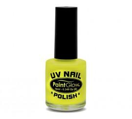 Esmalte de uñas amarillo fluorescente de 12 ml.
