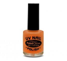 Esmalte de uñas naranja fluorescente de 12 ml.