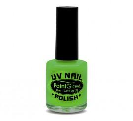 Esmalte de uñas verde fluorescente de 12 ml.