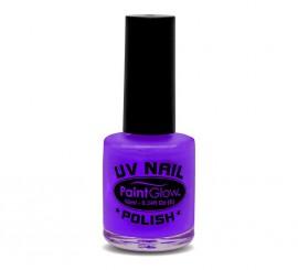 Esmalte de uñas violeta fluorescente de 12 ml.