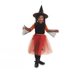 Disfraz Brujita Calabaza de niñas de 3 a 4 años de Halloween