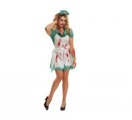 Disfraz Enfermera Sangrienta Mujer talla S  para Halloween