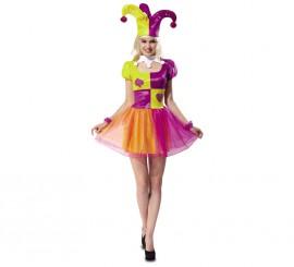 Disfraz de Bufona o Joker para Mujer talla M-L