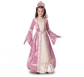 Disfraz Princesa Romántica Rosa para Niña