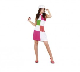 Disfraz de Chica de los años 60 para mujer talla M-L