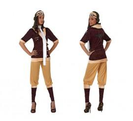 Disfraz de Aviadora de Época para mujer