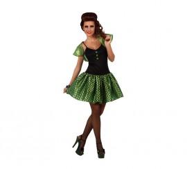 Disfraz de Chica de los años 60 verde