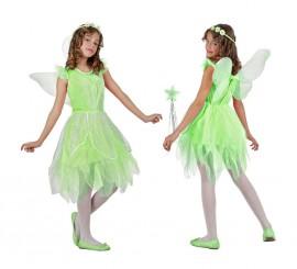 Disfraz de Hada verde para niñas