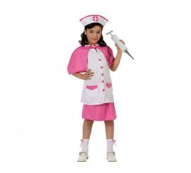 Disfraz de Enfermera rosa para niñas