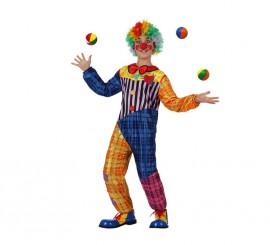 Disfraz de Payaso colores para niños de 7 a 9 años