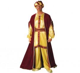Disfraz o traje de Rey Mago Baltasar adulto