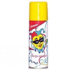 Spray Serpentina de color Amarillo