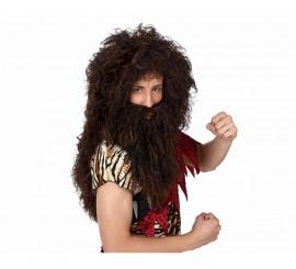 Peluca y barba de Cavernícola larga