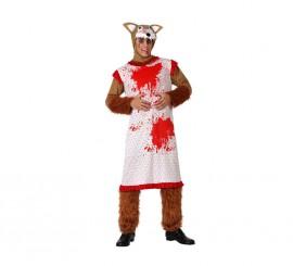 Disfraz de Lobo disfrazado de Abuelita para hombre