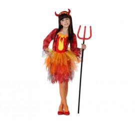 Disfraz de Demonia Fuego para niñas