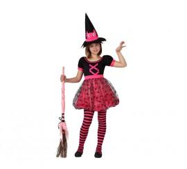 Disfraz de Bruja Rosa para niñas