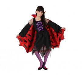 Disfraz de Vampiresa con capa para niñas