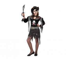 Disfraz de Pirata Fantasma para niñas